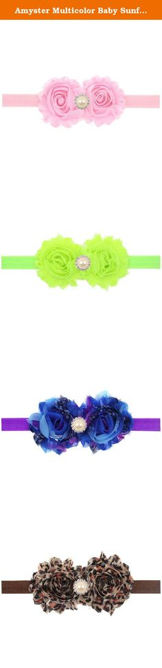 Amyster Multicolor Baby Sunflowers Hair Band Stretch Headband (Pearl Sunflower#1). Amyster is a specialized high-quality children's hair accessories, this is one of my great gift for your baby, you can be as a gift to your family, friends, colleagues. Soft fabrics, exquisite workmanship, feeling and feel comfortable wearing. Unique design and color matching, so that your child is in a beautiful partner role. We believe that the product, which is really a good choice.