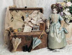 The French Lieutenant's Bride : 145 Doll's Armoire from Au Paradis des Enfants