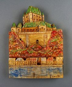 Château Frontenac carved on wood by DavydovArt on Etsy