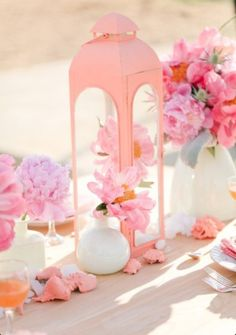 Pretty in pink seaside tablescape....#weddings #celebrations