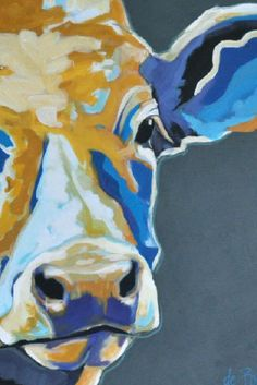 Schilderij (wonderful painter of animals) Farm Paintings, Animal Paintings, Cow Painting, Painting & Drawing, Farm Art, Cow Art, Painting Inspiration, Collage Art, Modern Art