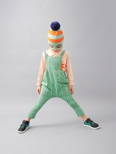 Indikidual 'Canary' woven dungaree in stripe Little Fashion, Kids Fashion, Kids Dungarees, Kids Studio, Baby Size, Style Guides, Boy Outfits, Fashion News, Harem Pants