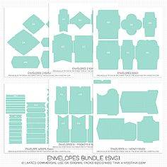 make a template for any envelope...just find one you like...stam it apart and make your own pattern...