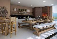 Resultado de imagem para area de lazer com churrasqueira moderna