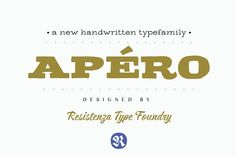 Apéro -50% off by Rsz Type Foundry on @creativemarket