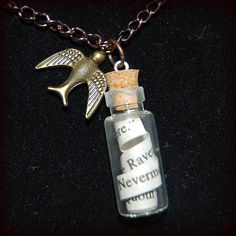 Bookworm Necklaces    Carry your favorite book quotes with you!