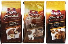 Gourmet coffee. Treat yourself to this variety 3-pack of Folgers Gourmet Selections flavored ground coffee in Caramel Drizzle, Toasted Hazelnut, and Mocha Swirl, in 10 oz. bags each. Fix a cup in the morning and enjoy the taste and aroma.