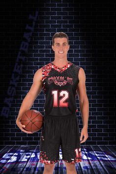 Here is the Slam Dunk #basketballuniforms in reverse.  Both sides are customizable.  Choose your colors, design patterns, gradients and more and we bring them to life in 3-10 business days.  Contact Team Sports Direct for a free mockup in your team colors.