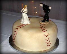 antique baseball bride groom cake.  Nebraska