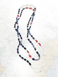 You can't get more red, white & blue than this. Check out Stefanie Wolf Designs @StefWolfDesigns at Pendleton-USA.com. Her designs are all handmade in Martha's Vineyard