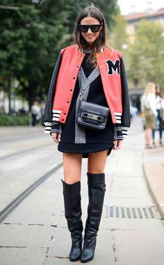 street style com peças do dia dia e complementações fashion!
