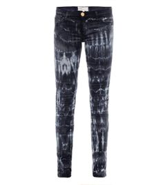Tie-dye low-rise skinny jeans by Current Elliot #MATCHESFASHION
