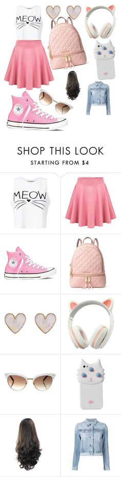 """""""School Outfit #3"""" by duhitzeleena on Polyvore featuring Miss Selfridge, Converse, MICHAEL Michael Kors, New Look, Gucci, Valfré and 3x1"""
