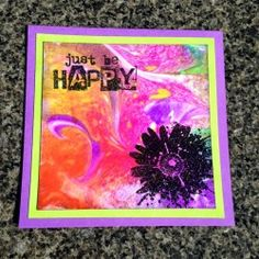 Visible Image stamps - Inky Flower - Just Be Happy - Sue Joseph