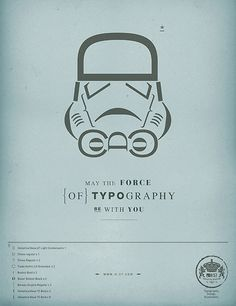 star wars font -- use the Stormtrooper as a template for wrapping paper!