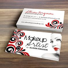Chic Makeup Artist Business Card Template