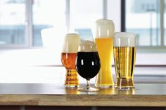 #Spiegelau Craft #Beer Tasting set includes the #IPA, stemmed #Pilsner (tulip), Lager and Wheat Beer glasses.
