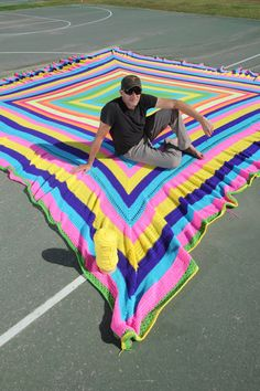 Duneier has begun a Guinness World Records attempt at making the world's biggest granny square..