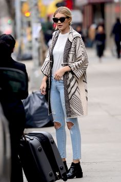 Gigi Hadid out and about in New York City rocking KREWE.