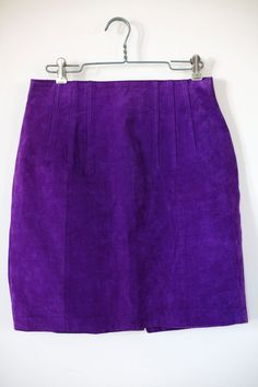 Purple Suede Skirt vintage 80s by  EXPRESS
