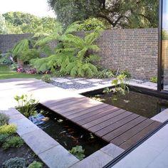 indoor pond design bridge - Google Search