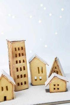 Gingerbread houses / Maisons en pain d'épice