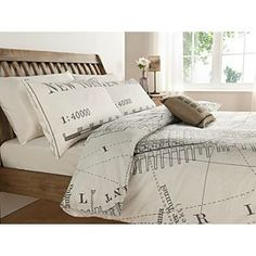 ASDA Vintage New York City Map Print Duvet Set - King