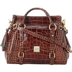 Dooney Bourke Small Satchel ($398) ❤ liked on Polyvore featuring bags, handbags, purses, hand-bag, satchel handbags, handbags & purses, red satchel handbags and handbag satchel