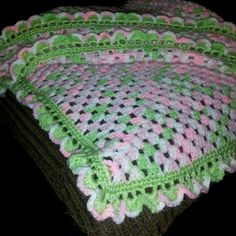 Lil girl baby blanket i made. Small baby blankets $35.00 crib sizes $45.00