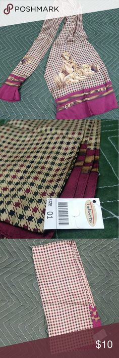 Dog Scarf Maroon scarf with multiple dogs on it. Talbots brand.  NWT Talbots Accessories
