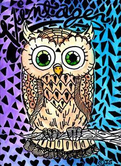 neat owl print