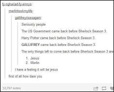 Tumblr: The only website on which you will see Jesus and Merlin grouped into the same category.