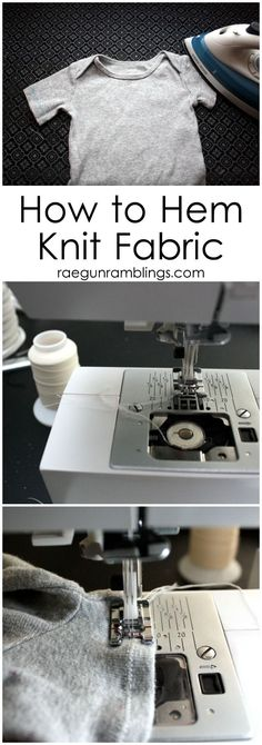 Sewing Techniques Couture The Secret to Hemming Knit Fabric (it's all in what type of thread you use) - Rae Gun Ramblings - How to Hem Knits the trick is all about what thread you use! Sewing Hacks, Sewing Tutorials, Sewing Crafts, Sewing Tips, Serger Sewing, Sewing Ideas, Sewing Basics, Sewing Stitches, Sewing Lessons