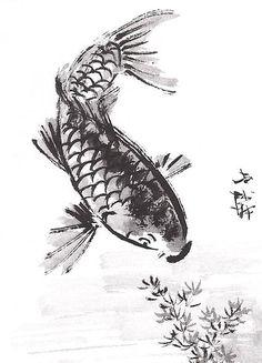 The Helpful Art Teacher: Draw and paint Koi (Carp) using traditional JapaneseandChinesetechniques