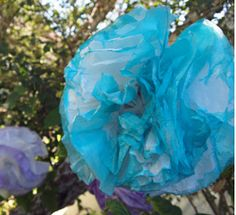 Paper Dip-Dyed Pom Poms | AllFreeDIYWeddings.com. Great idea to just do the tips!