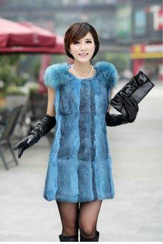 Lady's Raccoon dog fur and Rabbit Vest