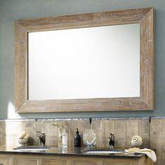 Holzspiegel CANCALE, H 200cm, geweißt