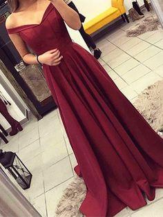 Custom Made A Line Off Shoulder Maroon Prom Dress, Burgundy Formal Dress, Wine Red Bridesmaid Dress #prom #promdress #prom2018 #prom2k18 #dresses #promdresses #burgundypromdress #burgundyformaldress #burgundydress #Fashion #beauty #trends #burgundy #burgundyeveningdress #eveningdress #formaldress