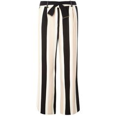 Dorothy Perkins Black and Blush Stripe Wide Leg Trousers ($29) ❤ liked on Polyvore featuring pants, bottoms, pink, dorothy perkins, pink wide leg trousers, striped trousers, pink pants and wide leg pants