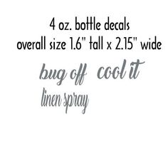 Customizable Spray Bottle Decals by thiscrazylifeDESIGNS on Etsy
