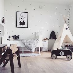 Black and white and so fun! #kids #room #decor
