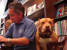 The Dog Whisperer appeared at Barnes and Nobel w/  Daddy