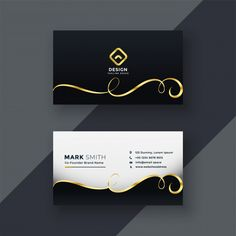 Premium business card design in dark theme Free Vector Business Cards Layout, Beauty Business Cards, Premium Business Cards, Luxury Business Cards, Elegant Business Cards, Business Card Mock Up, Business Design, Professional Business Card Design, Creative Business