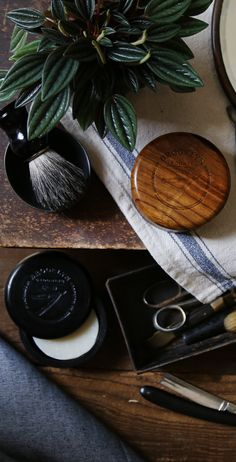 Show off your unique style and classy up that bathroom sink with our limited edition handcrafted wooden shave bowl with lid. The perfect accompaniment to your favorite beard or shaving soap! Available in charcoal and dark oak finish. #handmade #brooklyngrooming #barber #mensessentials #classic #dapper