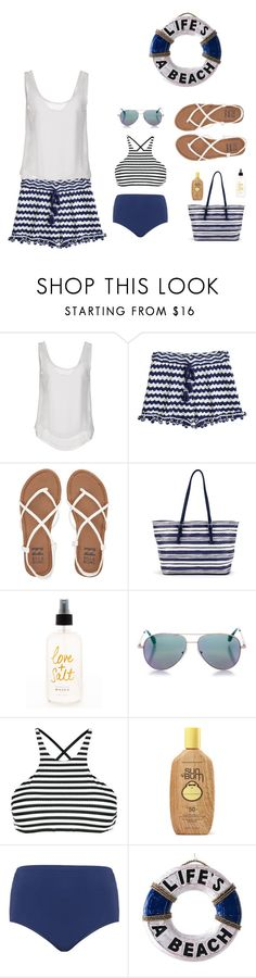"""Summer beach outfit"" by winniehorner on Polyvore featuring Le Ragazze Di St. Barth, Calypso St. Barth, Billabong, Cutler and Gross, Vitamin A, Sun Bum, Maxine Of Hollywood and NOVICA"
