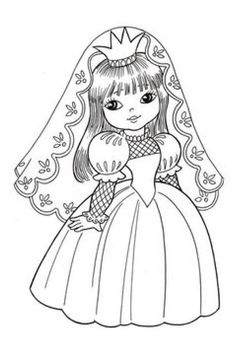 Coloring Pages For Girls, Coloring Book Pages, Coloring For Kids, Colorful Drawings, Colorful Pictures, Art Drawings, Old Paper Background, Drawing Lessons For Kids, Digi Stamps