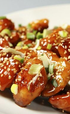 Sweet & Sticky Honey Sesame Chicken - A tasty low calorie, low fat recipe ready in 25 minutes.