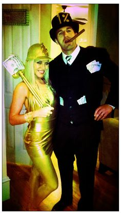 gold digger costume | Last minute and Amazing plus we already had everything