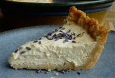 Lavender Cheesecake with Shortbread-Almond Crust. No dairy recipe is more iconic on Shavuot in America than cheesecake. How To Make Cheesecake, Classic Cheesecake, Lemon Cheesecake, Cheesecake Recipes, No Dairy Recipes, Real Food Recipes, Vegan Recipes, Dessert Recipes, Almond Butter Cookies