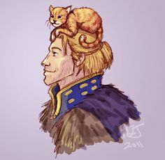Anders and Sir-Pounce-A Lot! ~A Proper Pet by TheSilverRaven by deviantART